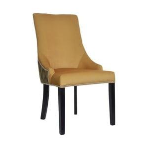 Horčicová jedálenská stolička JohnsonStyle Melody Wood
