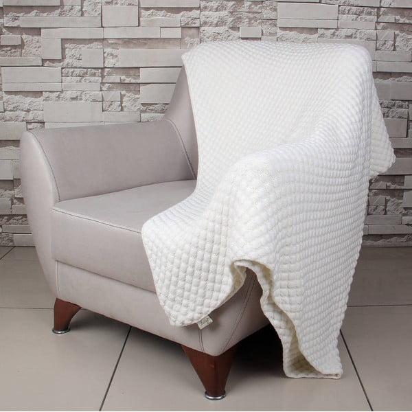 Svetlobéžová bavlnená deka Cola, 170×130cm
