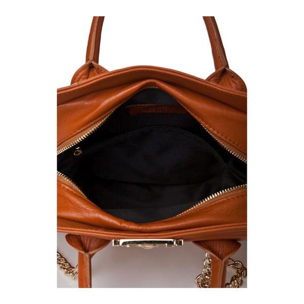 Kožená kabelka Markese 6397 Cognac