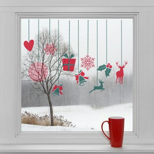 Elektrostatické vianočné samolepky Ozdoby na okno
