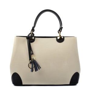 Béžová kožená kabelka Isabella Rhea Vanesa