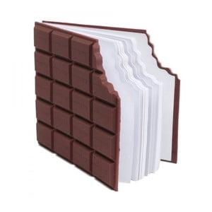 Denníček v tvare tabuľky čokolády Gift Republic Memo
