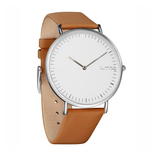 Kožené dámske hodinky Rumbatime SoHo Silver Hazelnut