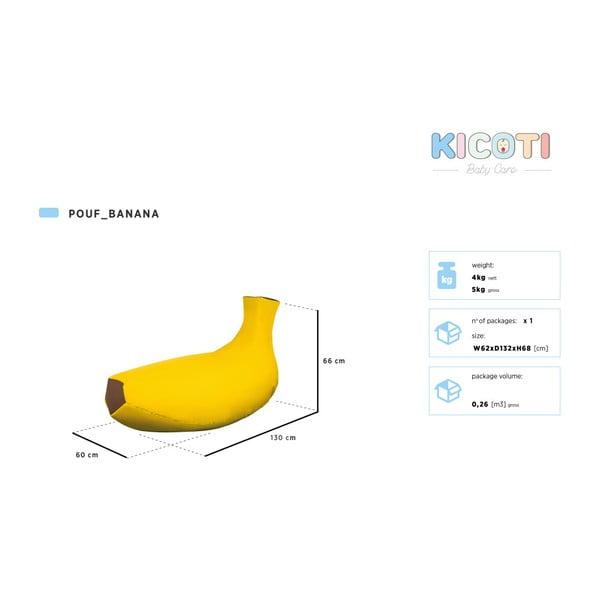 Detský interiérový sedací vak KICOTI Banana