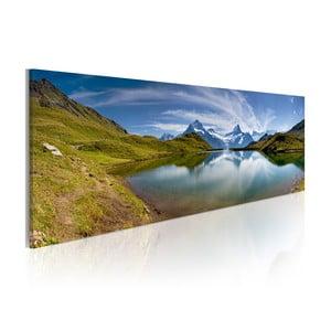 Obraz na plátne Artgeist Mountain Lake, 120x40cm