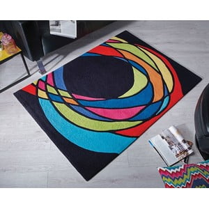 Koberec Flair Rugs Spectre Black/Multi, 120 x 170 cm