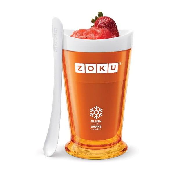 Oranžový nástroj na výrobu ľadovej triešte Zoku Slush