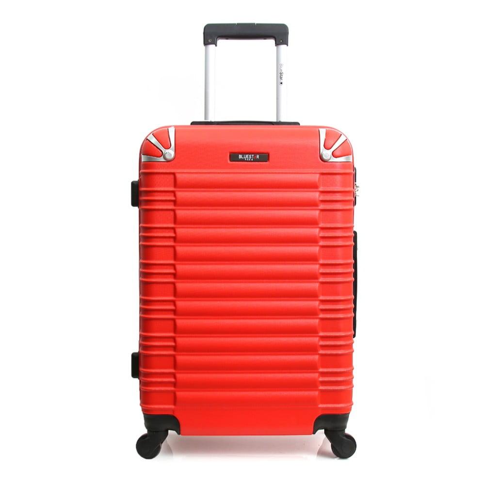 Červený cestovný kufor na kolieskach Blue Star Lima, 60 l