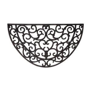 Gumová polkruhová rohožka Esschert Design Ornamental, šírka 66,5 cm