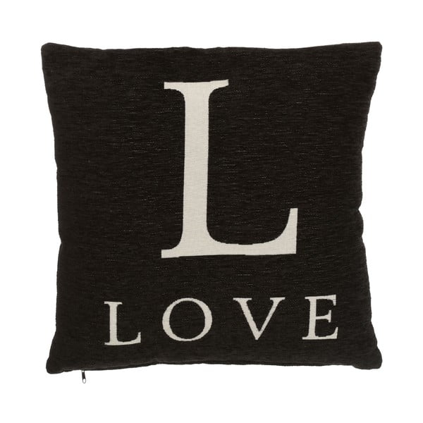 Vankúš Premier Housewares Love Black, 45 x 45 cm