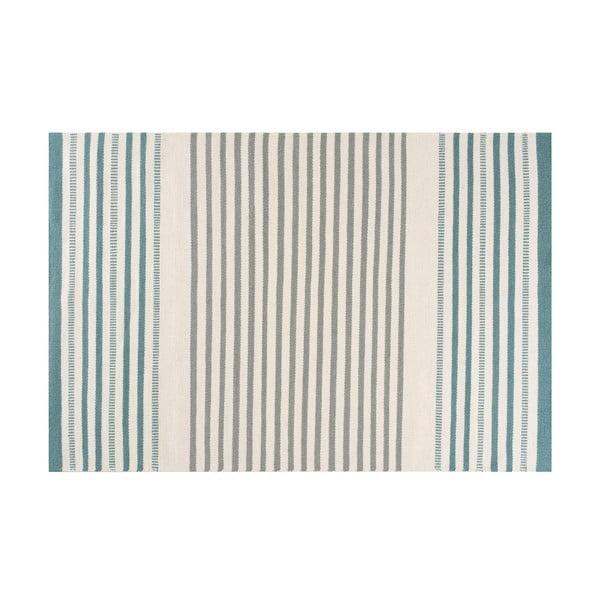 Ručne tkaný vlnený koberec Linie Design Story Aqua, 140x200cm