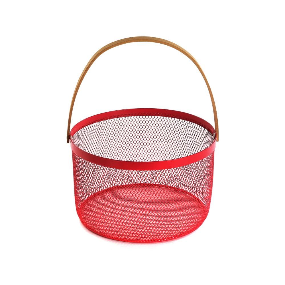 Červený košík s uchom Versa Maroda Rundo