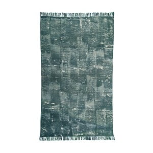 Zelený bavlnený koberec Oreste Luchettas Yantra, 195 × 115 cm