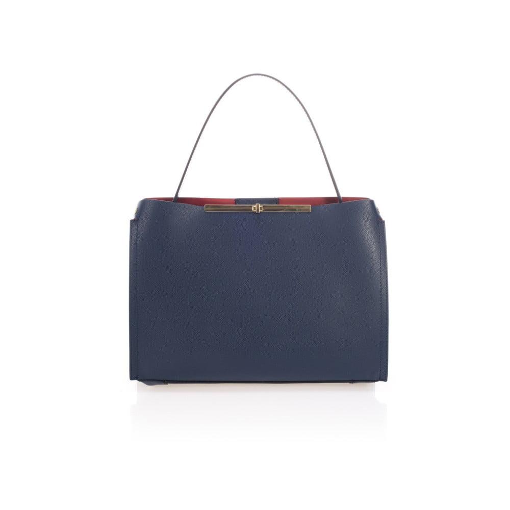 Modrá kožená kabelka Lisa Minardi Ganna