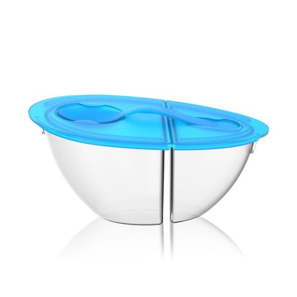 Prenosná miska na jogurt Flip N 'Pour Teal