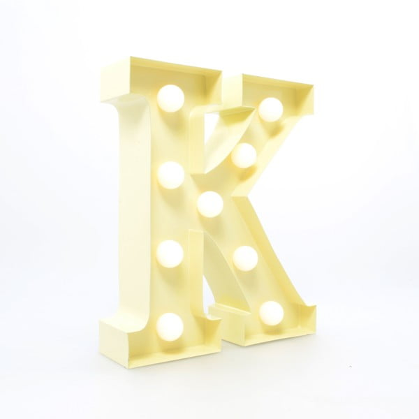 Dekoratívne svetlo Carnival K, vanilkové