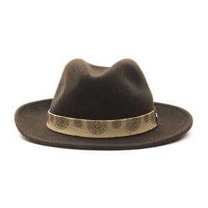 Hnedý kožený pánsky klobúk Alviero Martini Safari