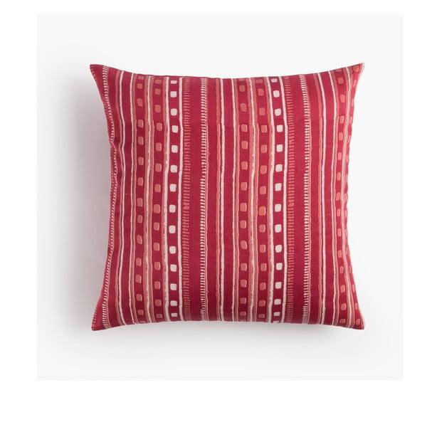 Obliečka na vankúš Cuadros Rojo, 45x45 cm