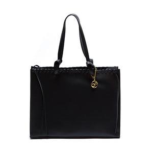 Kožená kabelka Felicia, čierna