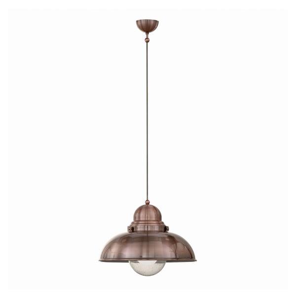 Závesné svetlo Crido Loft Copper, 43 cm