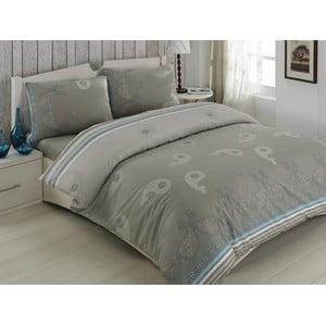 Obliečky s prestieradlom Sehrazat Grey, 200 x 220 cm