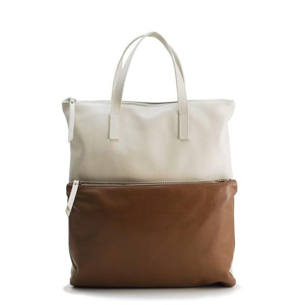 Kožená kabelka Sauvage Beige/Taupe