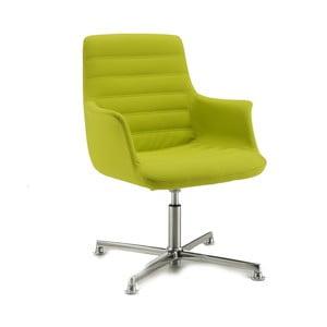 Limetková kancelárska stolička s kolieskami Zago Vetta