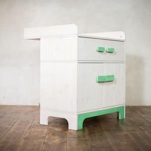 Prebaľovací pult s úložným priestorom Emo Green