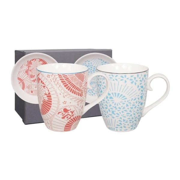 Sada 2 porcelánových hrnčekov s tanierikom Tokyo Design Studio Shiki, 380ml