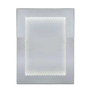 Nástenné zrkadlo s LED osvetlením Kare Design Infinity, 60 x 80 cm