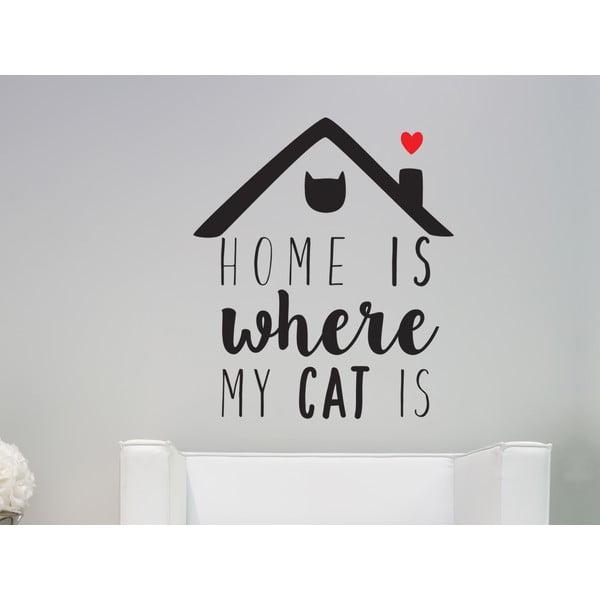 Dekoratívna nástenná samolepka Cat Is