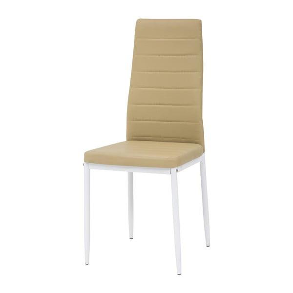 Jedálenská stolička Queen, biela/medová