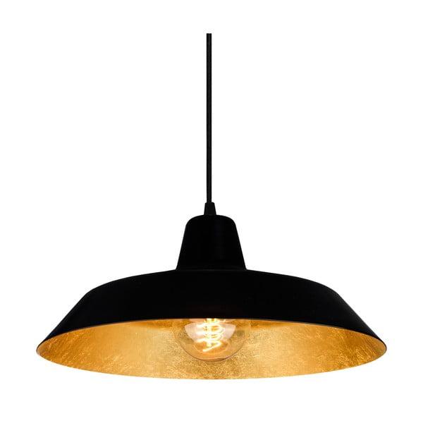 Závesné svietidlo Cinco, matná čierna/zlatá