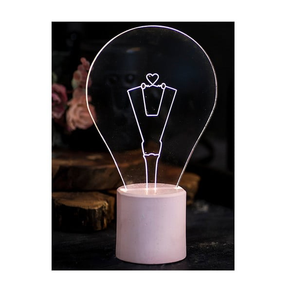 Náladové svetlo Bulb, ružový podstavec