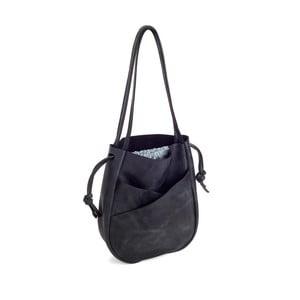Čierna kožená kabelka Woox Bella