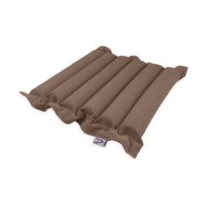Hnědý sedací polštářek s masážními míčky Linda Vrňáková Waves, 50x50cm