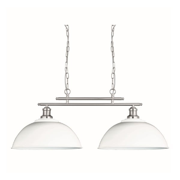Stropné svetlo Duo Silver/White