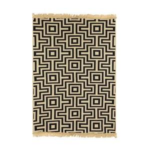 Tmavomodrý koberec Ya Rugs Kare, 80x150cm