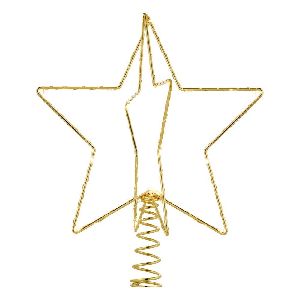 LED svietiaca špička na stromček Sirius Christina Gold, výška 25 cm