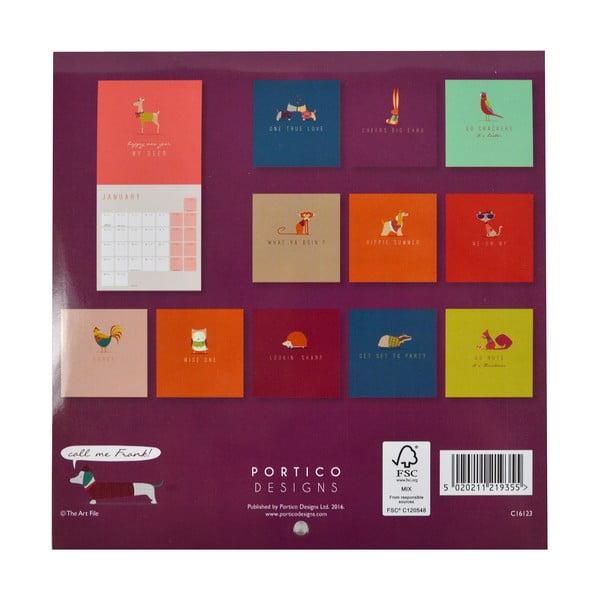 Mini kalendár Portico Designs Call Me Frank