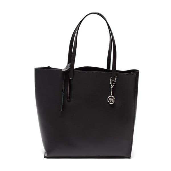 Kožená kabelka Fulvia, čierna