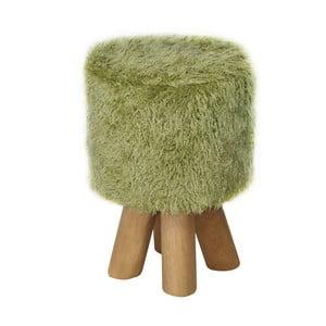 Stolička Happy Barok Kivi Fur, zelená