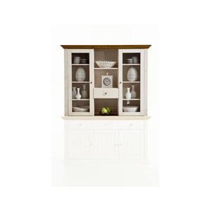 Biela vitrína z borovicového dreva Steens Monaco Provance