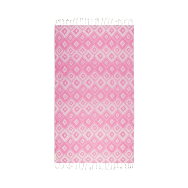 Ružová hammam osuška Begonville Joy, 95x180cm