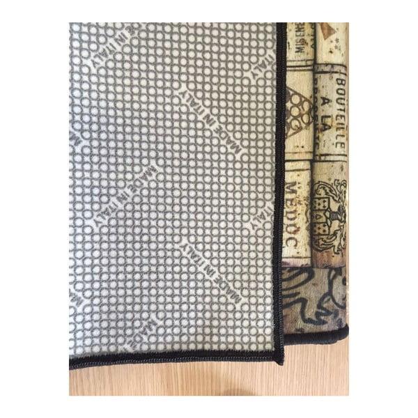 Vinylový koberec Inas Blue, 52x180 cm