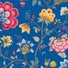 Tapeta Pip Studio Floral Fantasy, 0,52x10 m, tmavomodrá