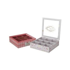 Sada 2 krabičiek na čaj Rosa
