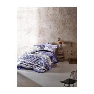 Set bavlnených obliečok na jednolôžko s plachtou Elvasi, 160×220 cm