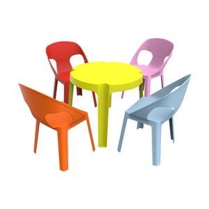 Detský záhradný set 1 zeleného stola a 4 stoličiek Resol Julieta