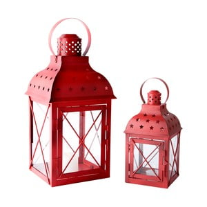 Sada 2 lampášov Red Glass